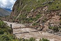 Urubamba river, in the sacred valley near Machu Picchu, Peru, South America.