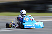 Gareth Playle, NZ, races in the Rotax Light class during the 2012 Superkart National Champs and Grand Prix at Manfeild in Feilding, New Zealand on Saturday, 7 January 2011. Credit: Hagen Hopkins.