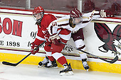 Taylor Woods (Cornell - 25), Emily Field (BC - 15) - The Boston College Eagles defeated the visiting Cornell University Big Red 4-3 (OT) on Sunday, January 11, 2012, at Kelley Rink in Conte Forum in Chestnut Hill, Massachusetts.