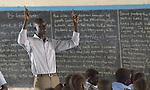A teacher in class at the John Paul II School in Wau, South Sudan.