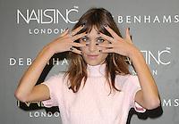AUG 14 Alexa Chung launches the exclusive Alexa Manicure! at Debenhams