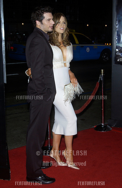 Actress KATE BECKINSALE & boyfriend director LEN WISEMAN at the Los Angeles premiere of their new movie Underworld..Sept 15, 2003