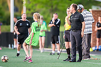Boston, MA - Friday May 19, 2017: Coaches Matt Beard and Mark Parsons during a regular season National Women's Soccer League (NWSL) match between the Boston Breakers and the Portland Thorns FC at Jordan Field.