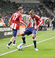 CARSON, CA – MARCH 26: Chivas USA forward Tristan Bowen (7) during the match between Chivas USA and Colorado Rapids at the Home Depot Center, March 26, 2011 in Carson, California. Final score Chivas USA 0, Colorado Rapids 1.