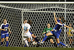 24 September 2009: North Carolina's Maria Lubrano (91) scores the game's first goal in the 84th minute. It was her first college goal. The University of North Carolina Tar Heels defeated the Duke University Blue Devils 2-1 in sudden victory overtime at Fetzer Field in Chapel Hill, North Carolina in an NCAA Division I Women's college soccer game.