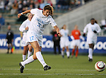 North Carolina's Yael Averbuch takes a shot on Friday, November 3rd, 2006 at SAS Stadium in Cary, North Carolina. The University of North Carolina Tarheels defeated the Clemson University Tigers 3-0 in Atlantic Coast Conference Women's Soccer Championship semifinal game.