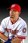 25 February 2007: Washington Nationals outfielder Wayne Lydon poses for his Photo Day portrait at Space Coast Stadium in Viera, Florida.<br /> <br /> Mandatory Photo Credit: Ed Wolfstein Photo<br /> <br /> Note: This image is available in a RAW (NEF) File Format - contact Photographer.