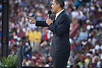 December 9, 2007. Columbia, SC.. Democratic presidential hopeful and US Senator, Barack Obama held a rally for an estimated 29,000 people at the University of South Carolina's football stadium with special guest Oprah Winfrey.. .