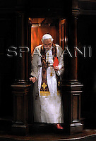 Confessional,Pope Benedict XVI  in the St. Peter's Basilica, at the Vatican,March 13, 2008