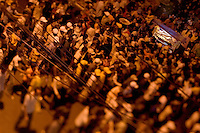 Crowds line the street in Phnom Penh, Cambodia during the Water Festival, the biggest event of the year in the country.