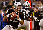 Oakland Raiders quarterback Rich Gannon (12) on Saturday, August 24, 2002, in Oakland, California. The Raiders defeated the 49ers 17-10 in a preseason game.