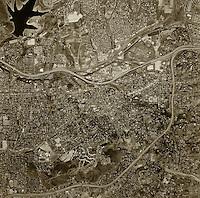 historical aerial photograph La Mesa, San Diego county, California, 1966
