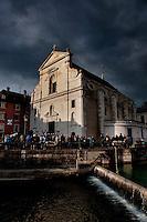 the Saint-François de Sales church in Annecy, capital of the Haute-Savoie department (France, 22/06/2010)