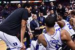 GREENVILLE, SC - MARCH 19: Head coach Mike Krzyzewski of Duke University talks to his team in a time out during the 2017 NCAA Men's Basketball Tournament held at Bon Secours Wellness Arena on March 19, 2017 in Greenville, South Carolina. (Photo by Grant Halverson/NCAA Photos via Getty Images)