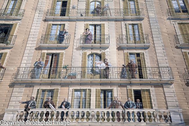 Cite de la Creation Mural on the Diagonal in Barcelona, Catalonia, Spain
