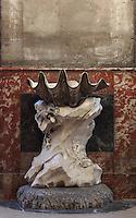 PIGALLE, Jean-Baptiste, 1714-85, Benitier (Holy water Font), Eglise Saint-Sulpice (St Sulpitius' Church), c.1646-1745, late Baroque church on the Left Bank, Paris, France. Picture by Manuel Cohen