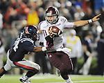 Texas A&amp;M quarterback Johnny Manziel (2) is sacked by Mississippi defensive lineman Issac Gross (94) in Oxford, Miss. on Saturday, October 6, 2012. Texas A&amp;M won 30-27. (AP Photo/Oxford Eagle, Bruce Newman)..