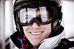 Challenge Mer et Montagne 2012, Saint Gervais les Bains, Mont Blanc, Haute Savoie, France..Ski Super Geant..Francois Gabart