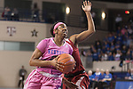 Freshman guard Taylor Murray (24) drives past a defender during the game against the Arkansas Razorbacks on Sunday, February 21, 2016 in Lexington, Ky. Kentucky won the game 77-63. Photo by Hunter Mitchell | Staff
