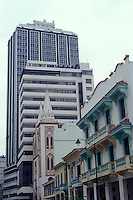 Old and new architecture in the city of Guayaquil, Ecuador