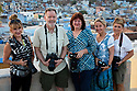 India, Jodhpur, Blue City, Historical City, Focus Expeditions group in front of Blue City