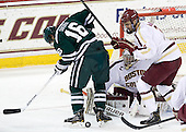 Tyler Sikura (Dartmouth - 16), Isaac MacLeod (BC - 7) - The Boston College Eagles defeated the visiting Dartmouth College Big Green 6-3 (EN) on Saturday, November 24, 2012, at Kelley Rink in Conte Forum in Chestnut Hill, Massachusetts.