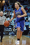 26 February 2012: Duke's Tricia Liston. The Duke University Blue Devils defeated the University of North Carolina Tar Heels 69-63 at Carmichael Arena in Chapel Hill, North Carolina in an NCAA Division I Women's basketball game.