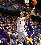 UK guard Jarrod Polson attempts a shot during the second half of the men's basketball game vs. LSU at Rupp Arena, in Lexington, Ky., on Saturday, January 26, 2013. Photo by Genevieve Adams  | Staff.