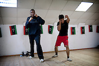 """Mohamed Abdel Nabi, age 21, begins his 1st day of training to the club, but already wishes to join the heavyweight category. """" To reach 85 kg, I have to take another 15 kilos, so I eat all I can find! """" As the professionals, he will have to go through the ritual of the weighing every 2 days."""