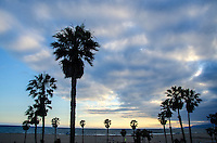 Santa Monica Beach amid the sunset on Monday, June 24, 2013.