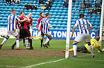 Kilmarnock v St Johnstone...05.04.14    SPFL<br /> Steven Anderson scores saints second goal<br /> Picture by Graeme Hart.<br /> Copyright Perthshire Picture Agency<br /> Tel: 01738 623350  Mobile: 07990 594431