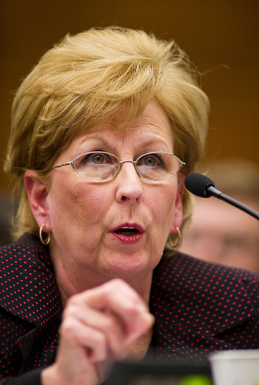 WASHINGTON, DC- Jan. 20: Ardis Hoven, chairwoman of the Board of Trustees for the American Medical Association, testifies during the House Judiciary hearing on medical liability issues. (Photo by Scott J. Ferrell/Congressional Quarterly)