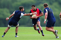 Taulupe Faletau of Bath Rugby in action. Bath Rugby pre-season training session on August 9, 2016 at Farleigh House in Bath, England. Photo by: Patrick Khachfe / Onside Images