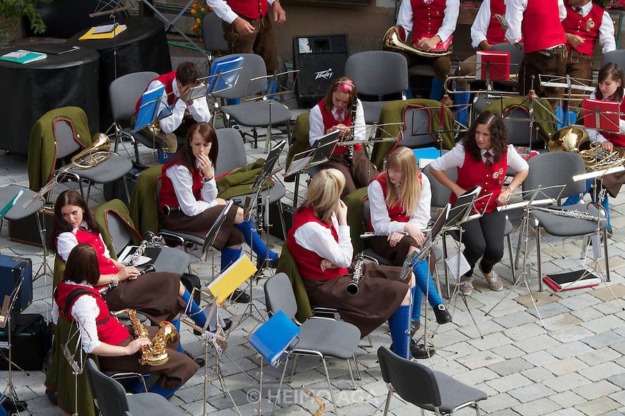 Kärntnernudelfest (Carinthian Dumplings Festival) in Oberdrauburg 2011. Brass Band Oberdrauburg.
