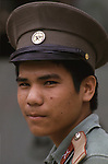 A resolute guard stands outside Hanoi's Armed Forces Military Museum which houses treasured war trophies from the French and American wars, along with many from the Cambodian and Chinese fronts.  (Jim Bryant Photo).....