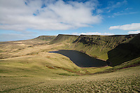 Llyn Y Fan Fach and Carmarthen Fans, Black Mountain, Brecon Beacons national park, Wales