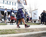 Participants celebrate at Manasquan Beach House after the world-record breaking 2014 Jersey Shore Kilt Run 2-mile race at the Manasquan beachfront on Sat., March, 22, 2014.