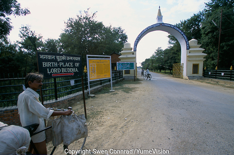 The main entry gate to the Maya Devi Temple in Lumbini Nepal, marks the birth place of Siddhartha Gautam Buddha..In 1976, the Nepalese Government and UNESCO designated Lumbini as a world heritage site..-The full text reportage is available on request in Word format