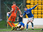 St Johnstone v Kilmarnock.....28.02.15<br /> Craig Samson saves at the feet of Michael O'Halloran<br /> Picture by Graeme Hart.<br /> Copyright Perthshire Picture Agency<br /> Tel: 01738 623350  Mobile: 07990 594431