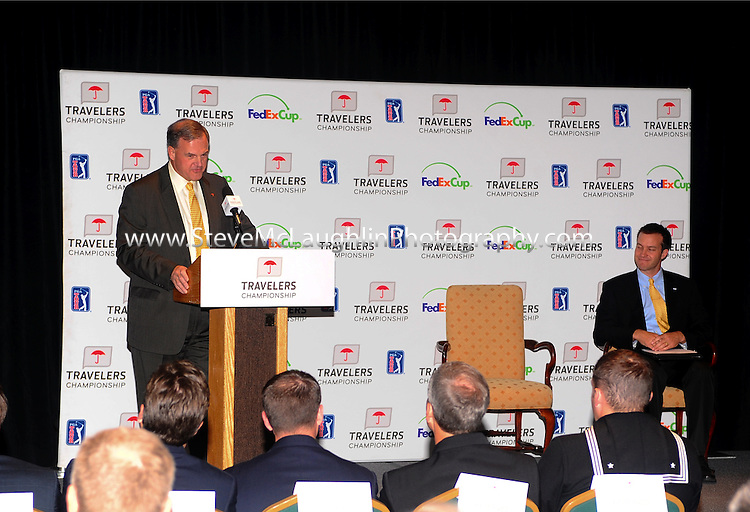 HARTFORD, Conn., Oct. 20, 2010 - The Travelers Championship, Connecticut's PGA TOUR event, announced today that the 2010 tournament generated $1,100,000, nearly a 70 percent increase from 2007.  The money generated from the tournament will benefit The Hole in the Wall Gang Camp, the Greater Hartford Jaycees, and more than 130 other charities throughout New England.