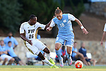 28 August 2015: North Carolina's Alan Winn (18) and FIU's Donald Tomlinson (26). The University of North Carolina Tar Heels hosted the Florida International University Panthers at Fetzer Field in Chapel Hill, NC in a 2015 NCAA Division I Men's Soccer match. North Carolina won the game 1-0