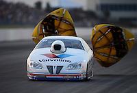 May 18, 2012; Topeka, KS, USA: NHRA pro stock driver Ron Krisher during qualifying for the Summer Nationals at Heartland Park Topeka. Mandatory Credit: Mark J. Rebilas-