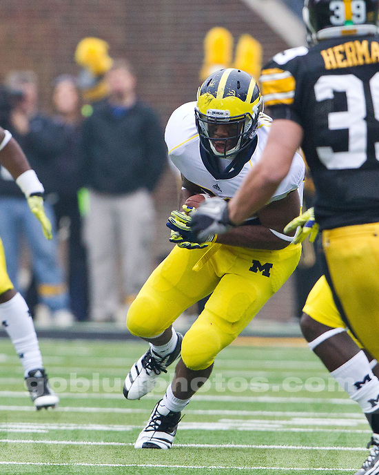The University of Michigan football teams fell to the University of Iowa Hawkeyes, 24-16, at Kinnick Stadium in Iowa City, Iowa, on November 5, 2011.