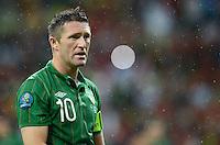 FUSSBALL  EUROPAMEISTERSCHAFT 2012   VORRUNDE Spanien - Irland                     14.06.2012 Robbie Keane (Irland) enttaeuscht
