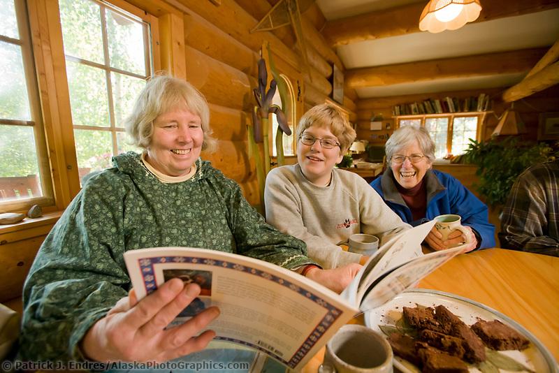Mary Shields, Alaskan author and mushing adventurer, Fairbanks, Alaska
