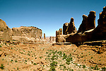 Utah: Arches National Park, Park Avenue, utarch105      .Photo copyright Lee Foster, www.fostertravel.com, 510/549-2202,  lee@fostertravel.com