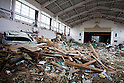 Sendai, Japan - A photo made available on April 11 shows Nakano Elementary School completely destroyed by the devastating March 11 earthquake and tsunami that rocked the northern part of Japan. (Photo by Christopher Jue/AFLO) [2331] **ITALY OUT**