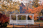The town bandstand in Dennis, Cape Cod, MA, USA