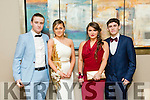 Alan Costello, Sarah Tansey, Sophie O Sullivan, Mark Ryle at the CBS The Green Students' Debs Ball at Ballyroe Heights Hotel on Thursday night
