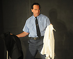 Christopher Schager rehearses the play Clandestine as part of the Ten Minute Plays in Oxford, Miss.  on Tuesday, September 20, 2011.